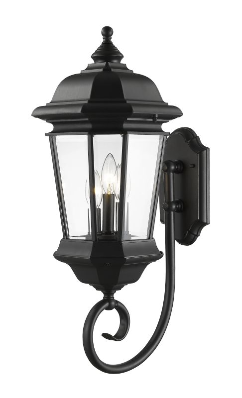 Z-Lite 540B Melbourne 3 Light Outdoor Wall Sconce Black Outdoor