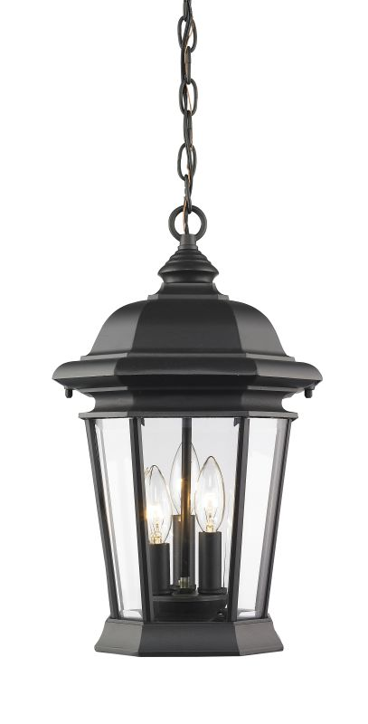 Z-Lite 540CHB Melbourne 3 Light Outdoor Pendant Black Outdoor Lighting Sale $338.00 ITEM: bci2614196 ID#:540CHB-BK UPC: 685659045772 :