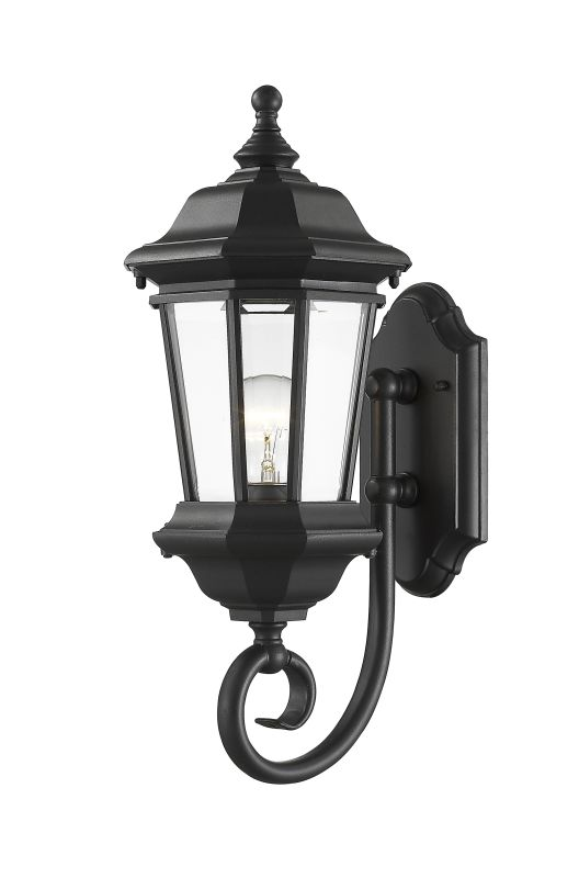 Z-Lite 540M Melbourne 1 Light Outdoor Wall Sconce Black Outdoor