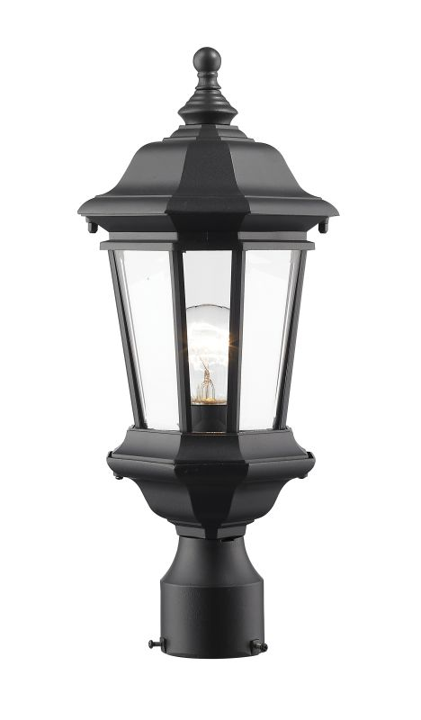 Z-Lite 540PHM Melbourne 1 Light Outdoor Post Light Black Outdoor