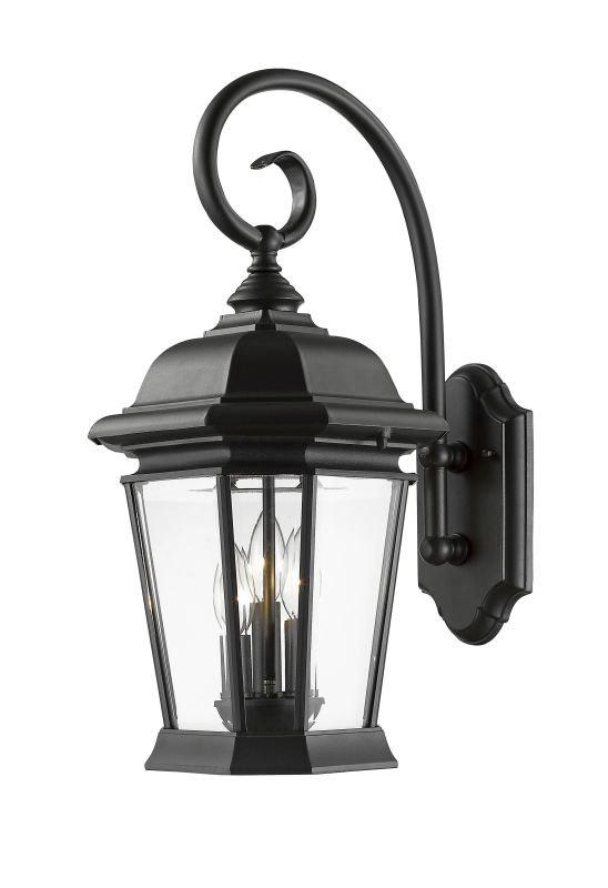 Z-Lite 541B Melbourne 3 Light Outdoor Wall Sconce Black Outdoor