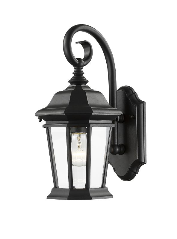 Z-Lite 541M Melbourne 1 Light Outdoor Wall Sconce Black Outdoor Sale $200.00 ITEM: bci2614211 ID#:541M-BK UPC: 685659045710 :