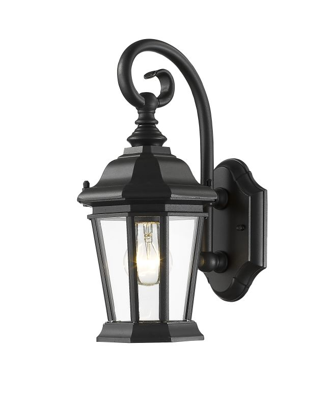 Z-Lite 541S Melbourne 1 Light Outdoor Wall Sconce Black Outdoor