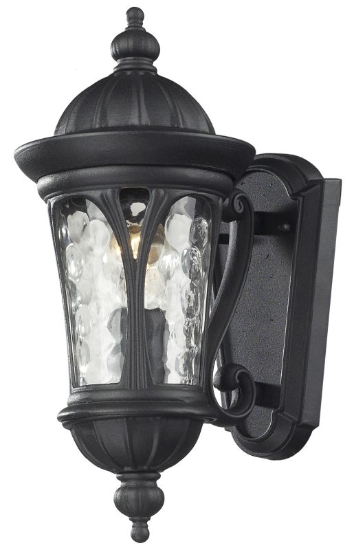 Z-Lite 543S Doma 1 Light Outdoor Wall Sconce with Water Glass Shade Sale $132.00 ITEM: bci2519543 ID#:543S-BK UPC: 685659023022 :
