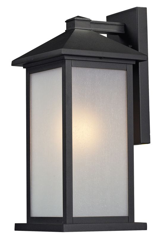 Z-Lite 547M Vienna 1 Light Outdoor Wall Sconce with White Seedy Shade