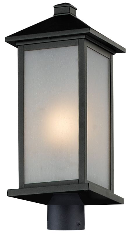 Z-Lite 547PHB-R Vienna 1 Light Outdoor Post Light with White Seedy Sale $254.00 ITEM: bci2519563 ID#:547PHB-BK-R UPC: 685659024586 :