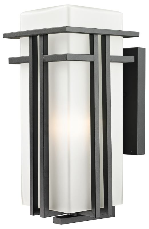 Z-Lite 549B Abbey 1 Light Outdoor Wall Sconce with Matte Opal Shade