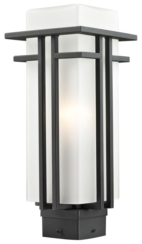 Z-Lite 549PHM Abbey 1 Light Outdoor Post Light with Matte Opal Shade Sale $194.00 ITEM: bci2519604 ID#:549PHM-BK UPC: 685659025774 :