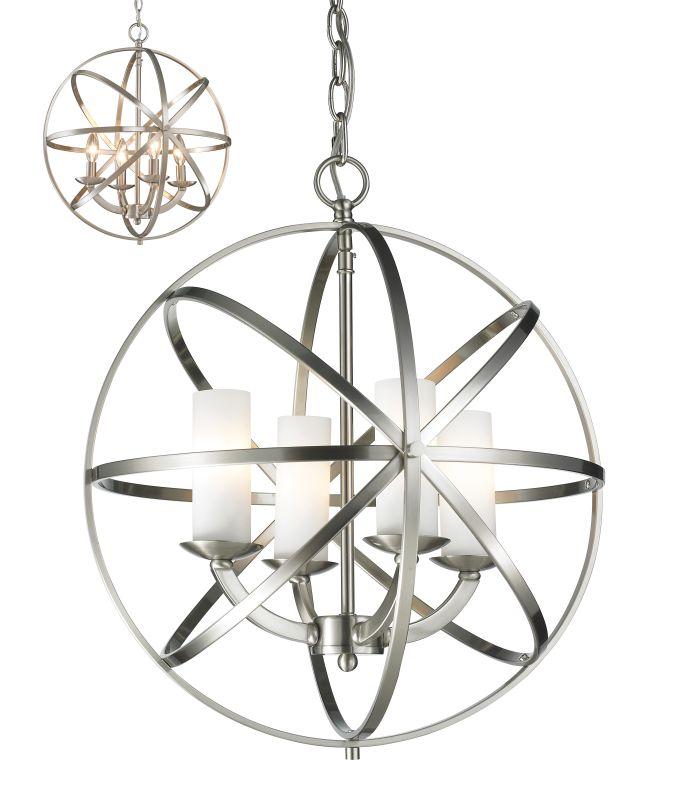 Z-Lite 6017-4S Aranya 4 Light Full Sized Pendant with Matte Opal Shade