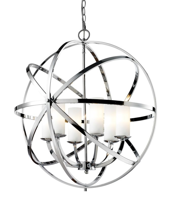 Z-Lite 6017-6L Aranya 6 Light Large Pendant with Matte Opal Shade