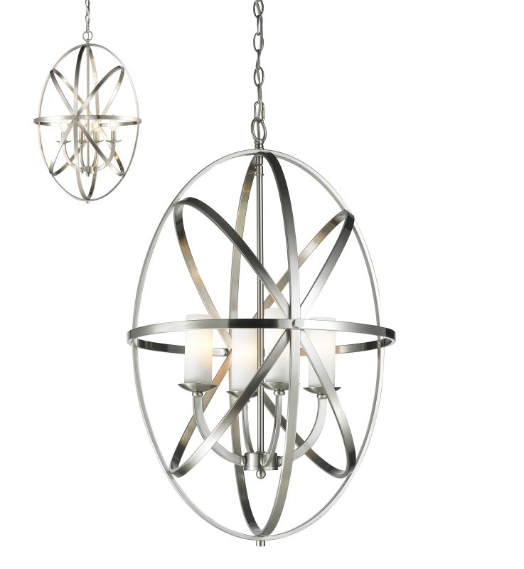 Z-Lite 6027-4L Aranya 4 Light Full Sized Pendant with Matte Opal Shade Sale $718.00 ITEM: bci2519003 ID#:6027-4L-BN UPC: 685659036046 :