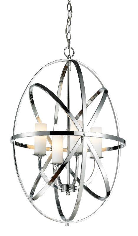 Z-Lite 6027-4L Aranya 4 Light Full Sized Pendant with Matte Opal Shade
