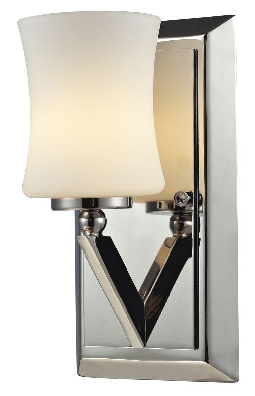 Z-Lite 608-1V Elite 1 Light Bathroom Sconce with Matte Opal Glass