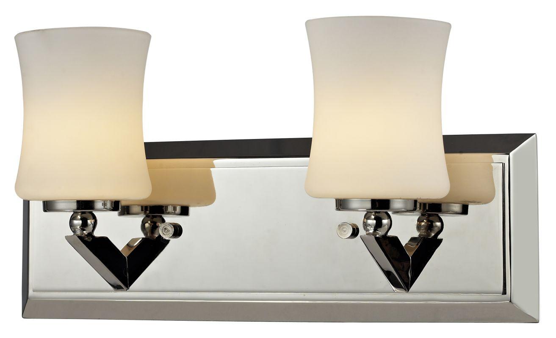 Z-Lite 608-2V Elite 2 Light Bathroom Vanity Light with Matte Opal