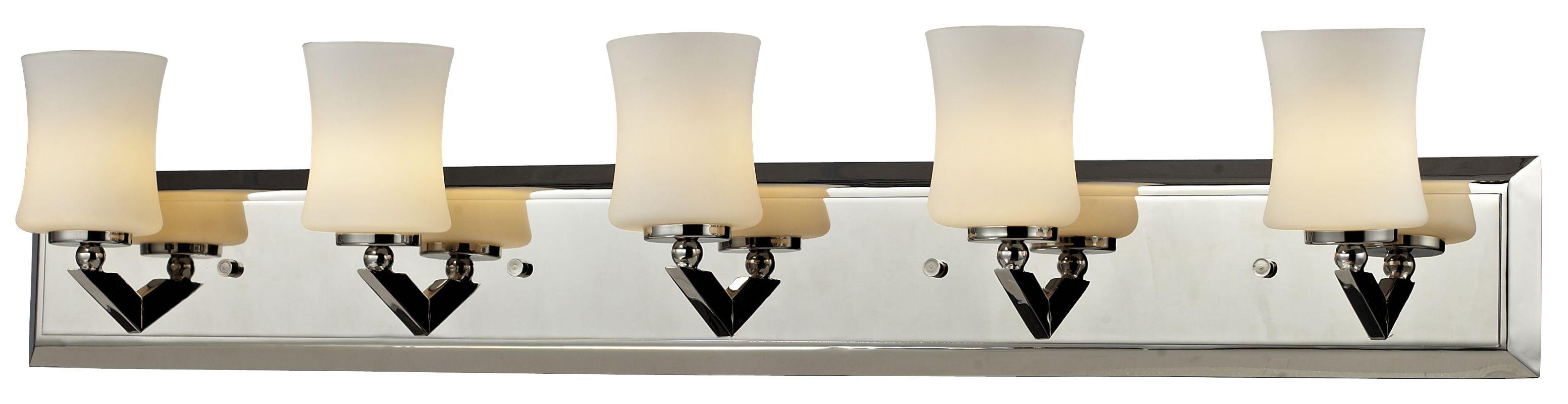 Z-Lite 608-5V Elite 5 Light Bathroom Vanity Light with Matte Opal