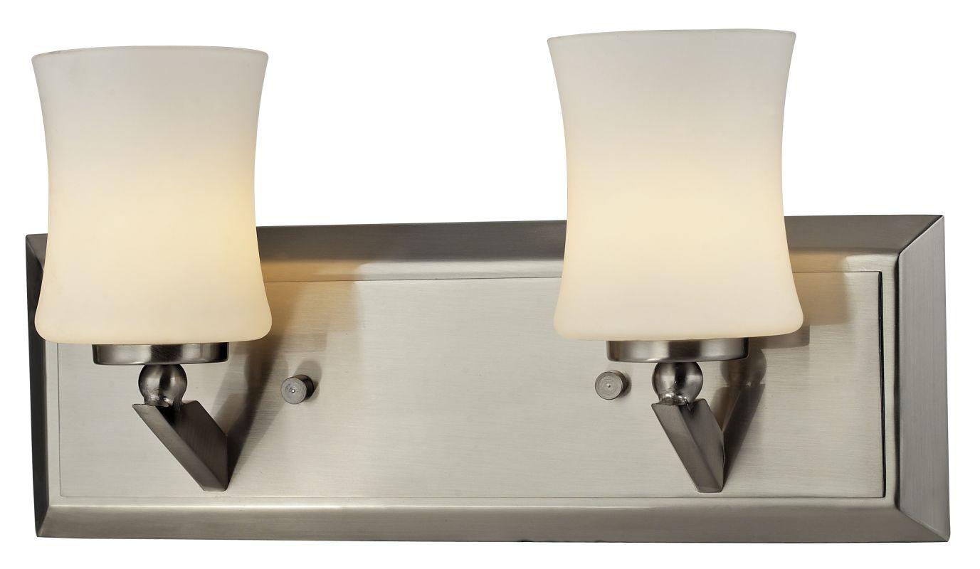 Z-Lite 609-2V Elite 2 Light Bathroom Vanity Light with Matte Opal