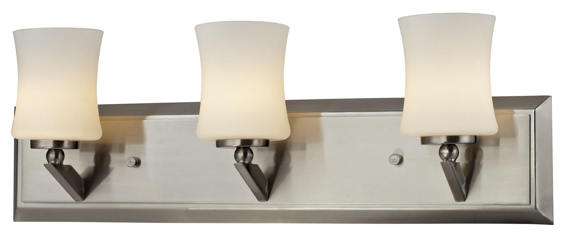 Z-Lite 609-3V Elite 3 Light Bathroom Vanity Light with Matte Opal