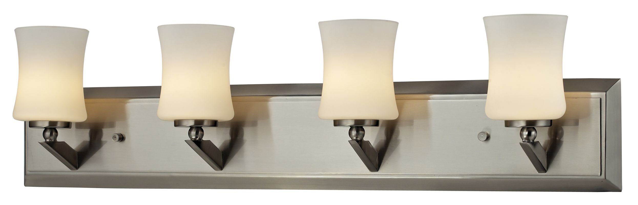 Z-Lite 609-4V Elite 4 Light Bathroom Vanity Light with Matte Opal
