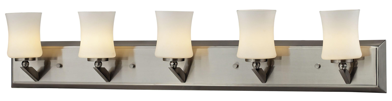 Z-Lite 609-5V Elite 5 Light Bathroom Vanity Light with Matte Opal