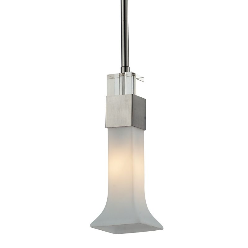 Z-Lite 610-MP Lotus 1 Light Mini Pendant with Matte Opal Shade Brushed