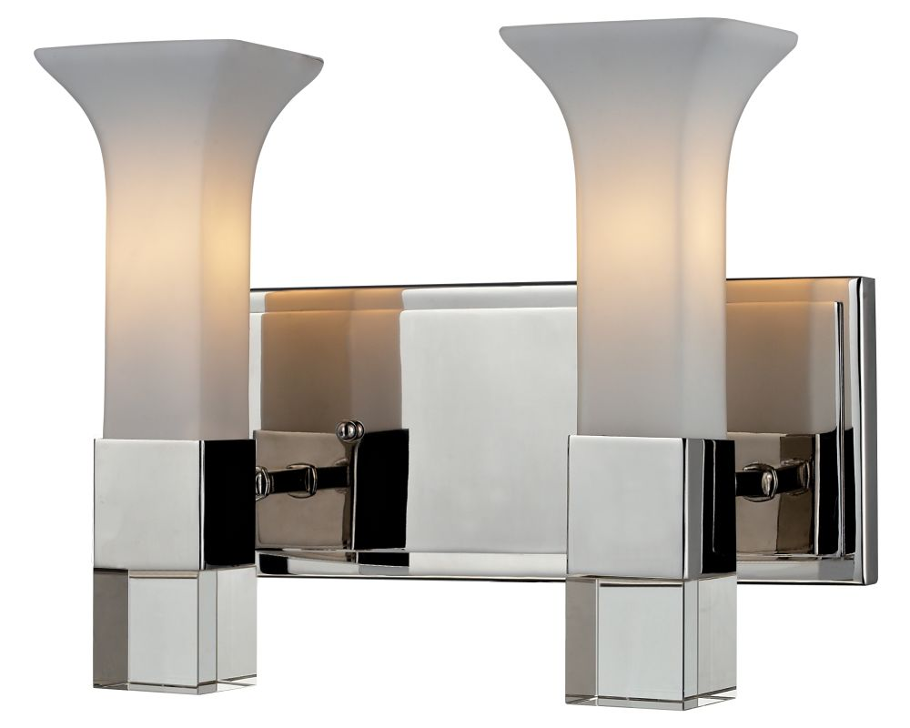 Z-Lite 611-2V Lotus 2 Light Bathroom Vanity Light with Matte Opal Sale $304.00 ITEM: bci2518655 ID#:611-2V-CH UPC: 685659022889 :