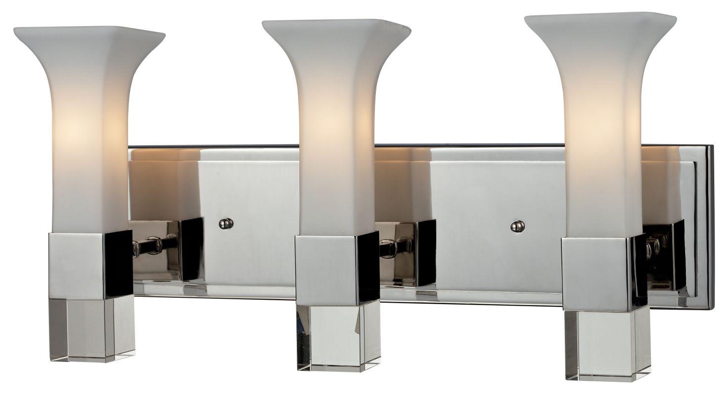 Z-Lite 611-3V Lotus 3 Light Bathroom Vanity Light with Matte Opal
