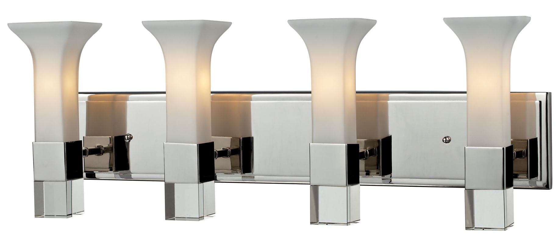 Z-Lite 611-4V Lotus 4 Light Bathroom Vanity Light with Matte Opal