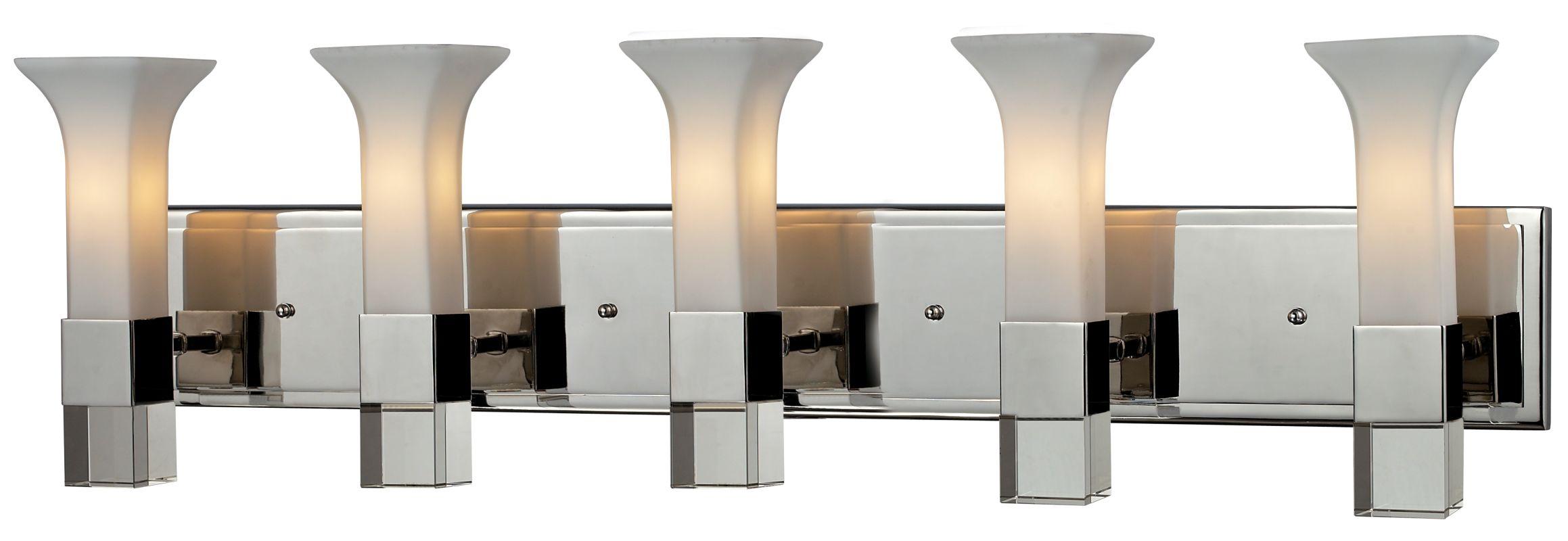 Z-Lite 611-5V Lotus 5 Light Bathroom Vanity Light with Matte Opal