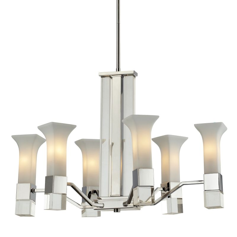Z-Lite 611-6 Lotus 6 Light 1 Tier Chandelier with Matte Opal Shade