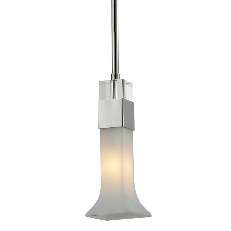 Z-Lite 611-MP Lotus 1 Light Mini Pendant with Matte Opal Shade Chrome