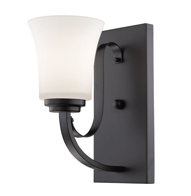 "Z-Lite 7000-1S Halliwell Single Light 5"" Wide Wall Sconce with Frosted"