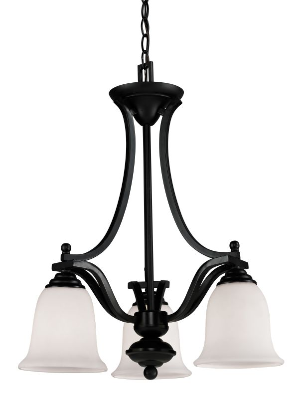 Z-Lite 702-3 Lagoon 3 Light 1 Tier Chandelier with Matte Opal Shade