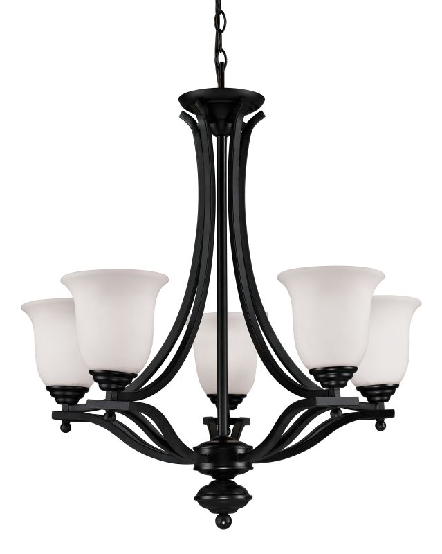 Z-Lite 702-5 Lagoon 5 Light 1 Tier Chandelier with Matte Opal Shade