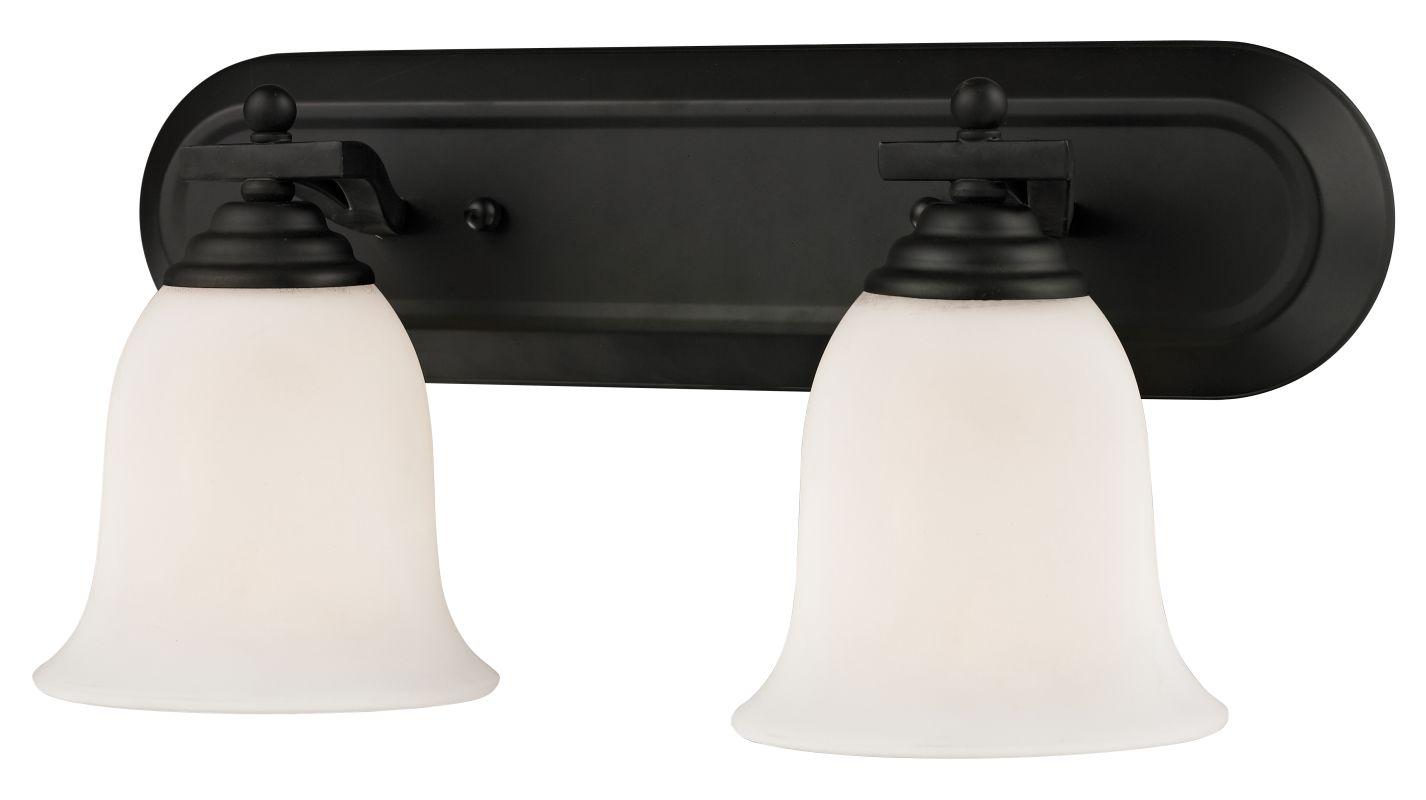 Z-Lite 703-2V Lagoon 2 Light Bathroom Vanity Light with Matte Opal