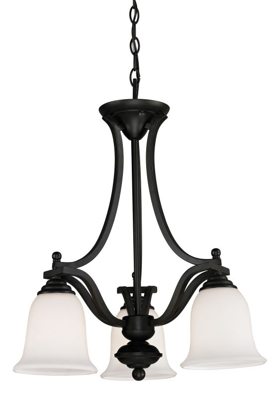 Z-Lite 703-3 Lagoon 3 Light 1 Tier Chandelier with Matte Opal Shade