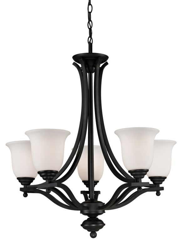 Z-Lite 703-5 Lagoon 5 Light 1 Tier Chandelier with Matte Opal Shade