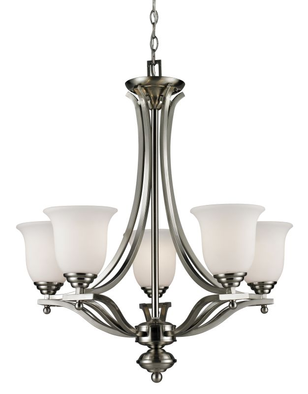 Z-Lite 704-5 Lagoon 5 Light 1 Tier Chandelier with Matte Opal Shade