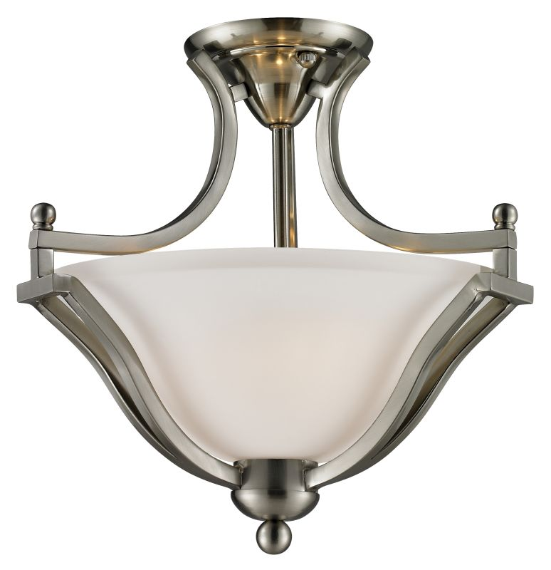 Z-Lite 704SF Lagoon 2 Light Semi-Flush Ceiling Fixture with Matte Opal Sale $190.00 ITEM: bci2519062 ID#:704SF-BN UPC: 685659020779 :