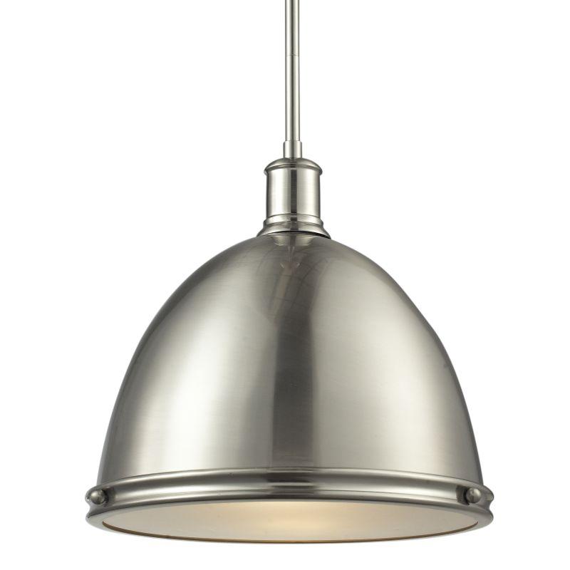 Z-Lite 710P13 Mason 1 Light Full Sized Pendant with Brushed Nickel