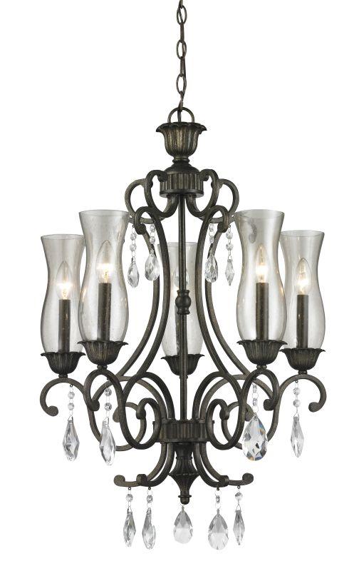Z-Lite 720-5 Melina 5 Light Chandelier Golden Bronze Indoor Lighting