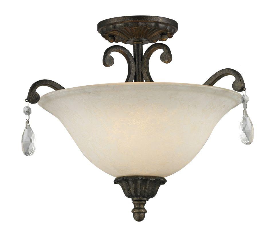 Z-Lite 720SF Melina 3 Light Semi-Flush Ceiling Fixture Golden Bronze Sale $230.00 ITEM: bci2614248 ID#:720SF-GB UPC: 685659040135 :