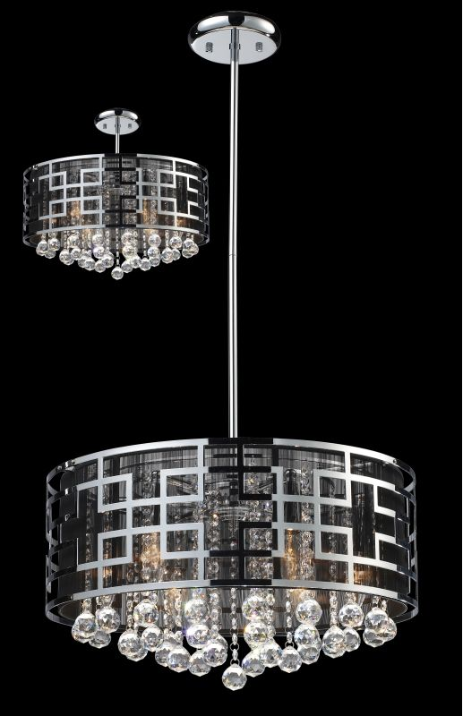 Z-Lite 839 Mirach 6 Light 1 Tier Chandelier Chrome Indoor Lighting