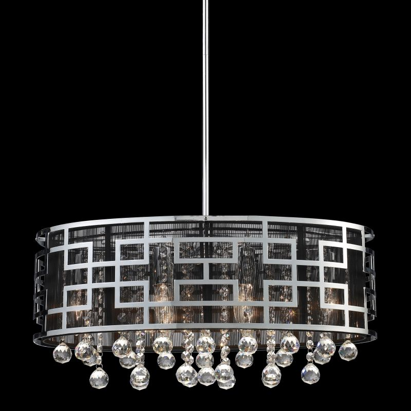 Z-Lite 840 Mirach 6 Light 1 Tier Chandelier Chrome Indoor Lighting