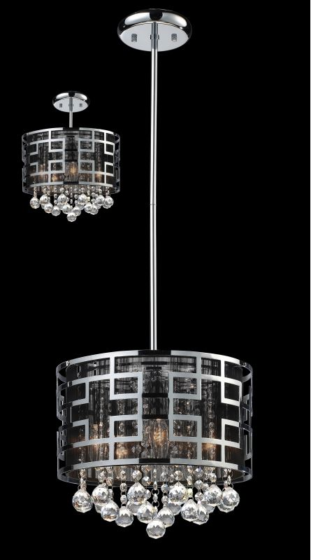 Z-Lite 841 Mirach 5 Light 1 Tier Chandelier Chrome Indoor Lighting