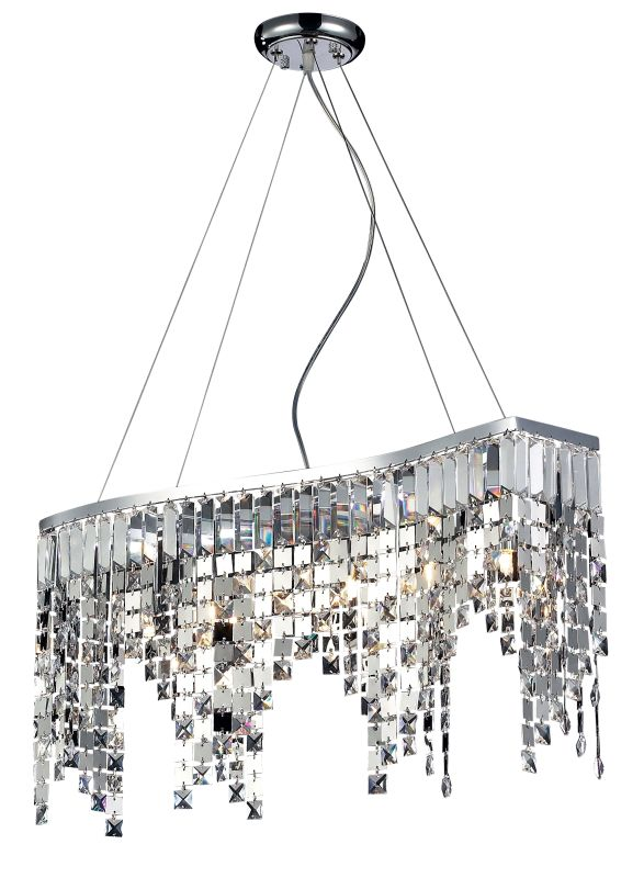 Z-Lite 857 Nyssa 6 Light 1 Tier Chandelier Chrome Indoor Lighting