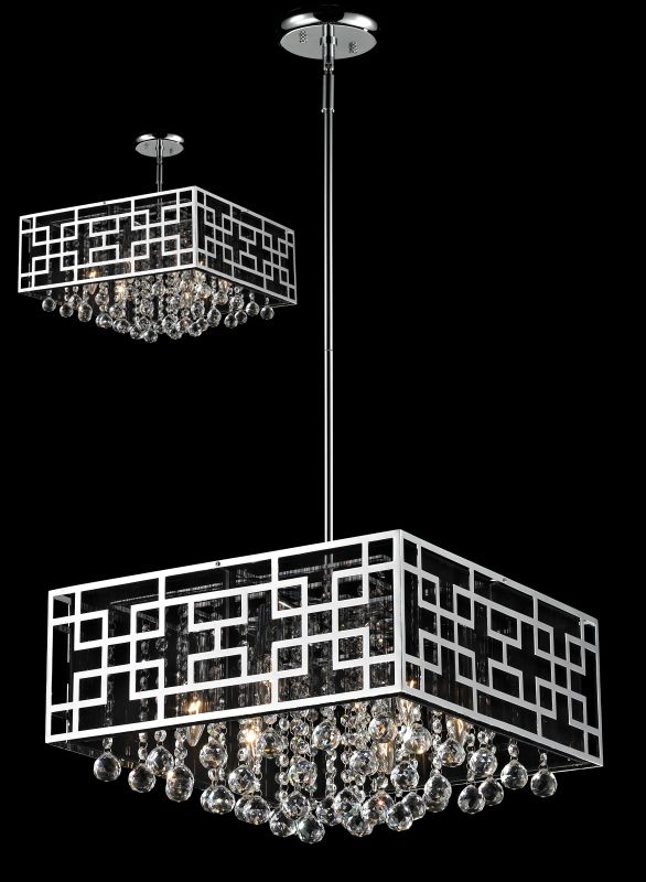 Z-Lite 869 Mirach 6 Light 1 Tier Chandelier Chrome Indoor Lighting