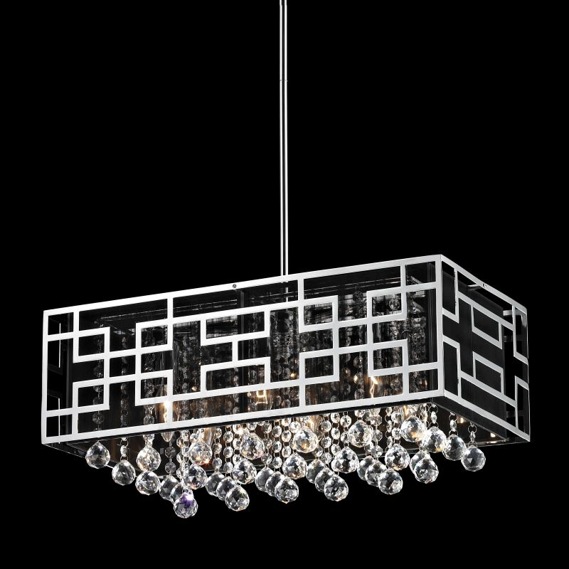 Z-Lite 870 Mirach 6 Light 1 Tier Chandelier Chrome Indoor Lighting