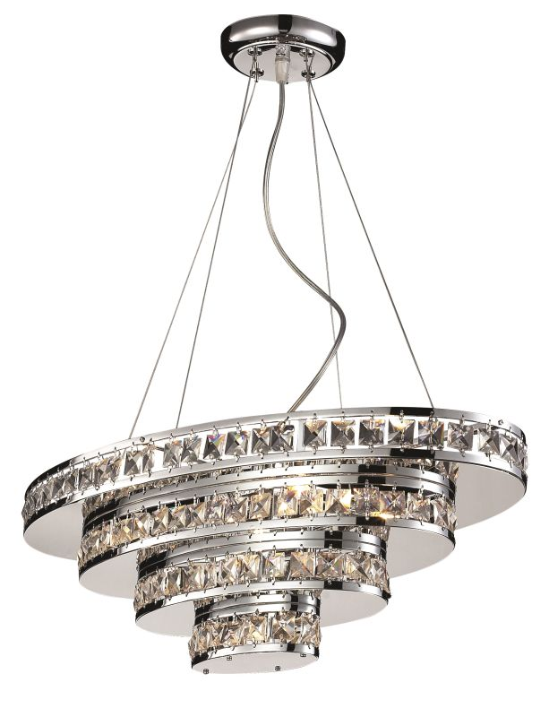 Z-Lite 884 Ariel 5 Light Single Tier Chandelier Chrome Indoor Lighting