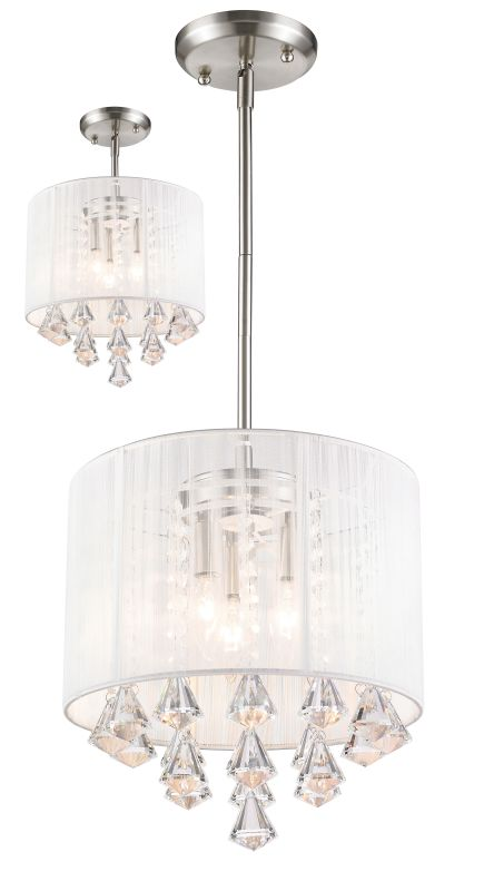 Z-Lite 891-12-C Aura 3 Light Full Sized Pendant with White Shade Sale $278.00 ITEM: bci2519127 ID#:891-12W-C UPC: 685659033397 :