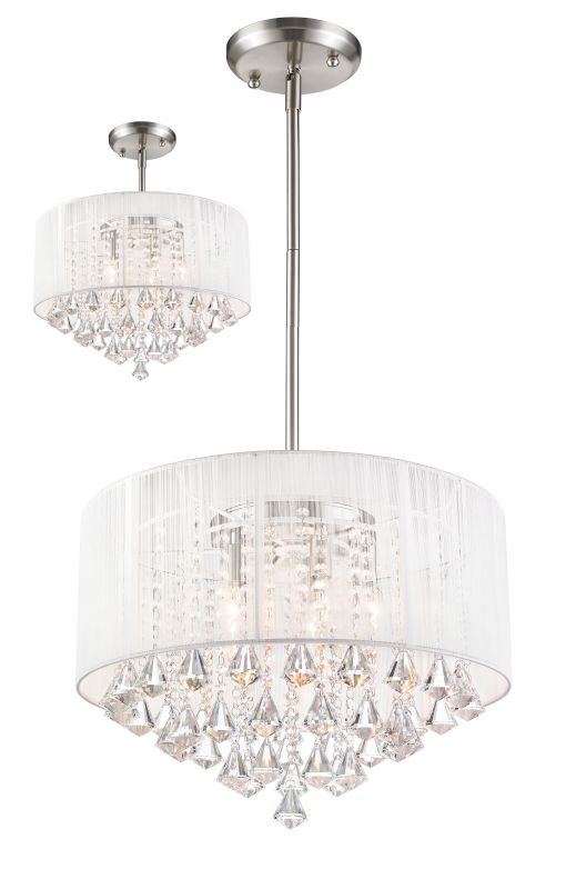 Z-Lite 891-20-C Aura 5 Light Full Sized Pendant with White Shade Sale $518.00 ITEM: bci2519129 ID#:891-20W-C UPC: 685659033410 :